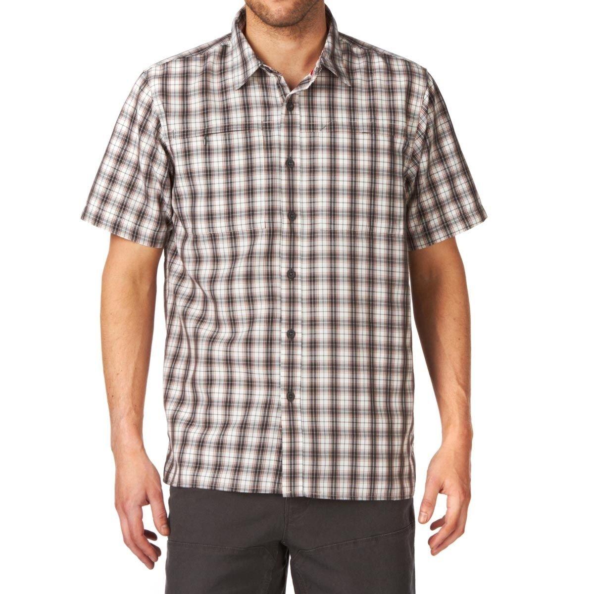 The North Face Hemd 1/2 Men's S/S Millstone Woven asphalt Grau (Größe: L)