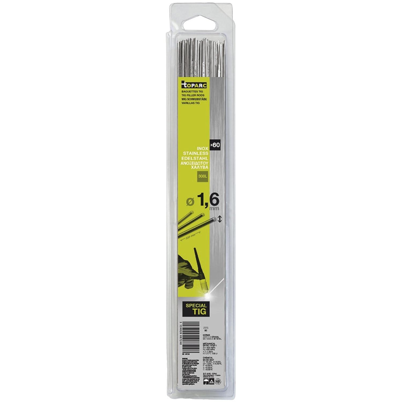Abratools - Juego varilla gys diámetro 1,6mm inoxidable 308l(blister 60u)