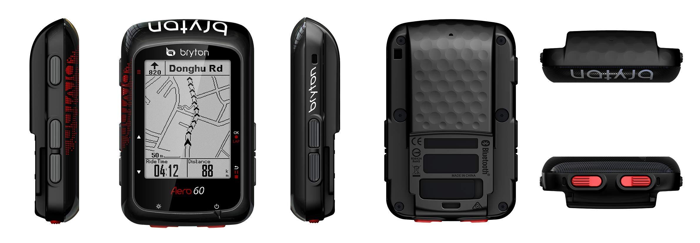 Bryton AERO 60T GPS Cycling Computer (2.3'' Display, 60T - with HRM + Dual Sensor + Metal Aero Mount) by Bryton