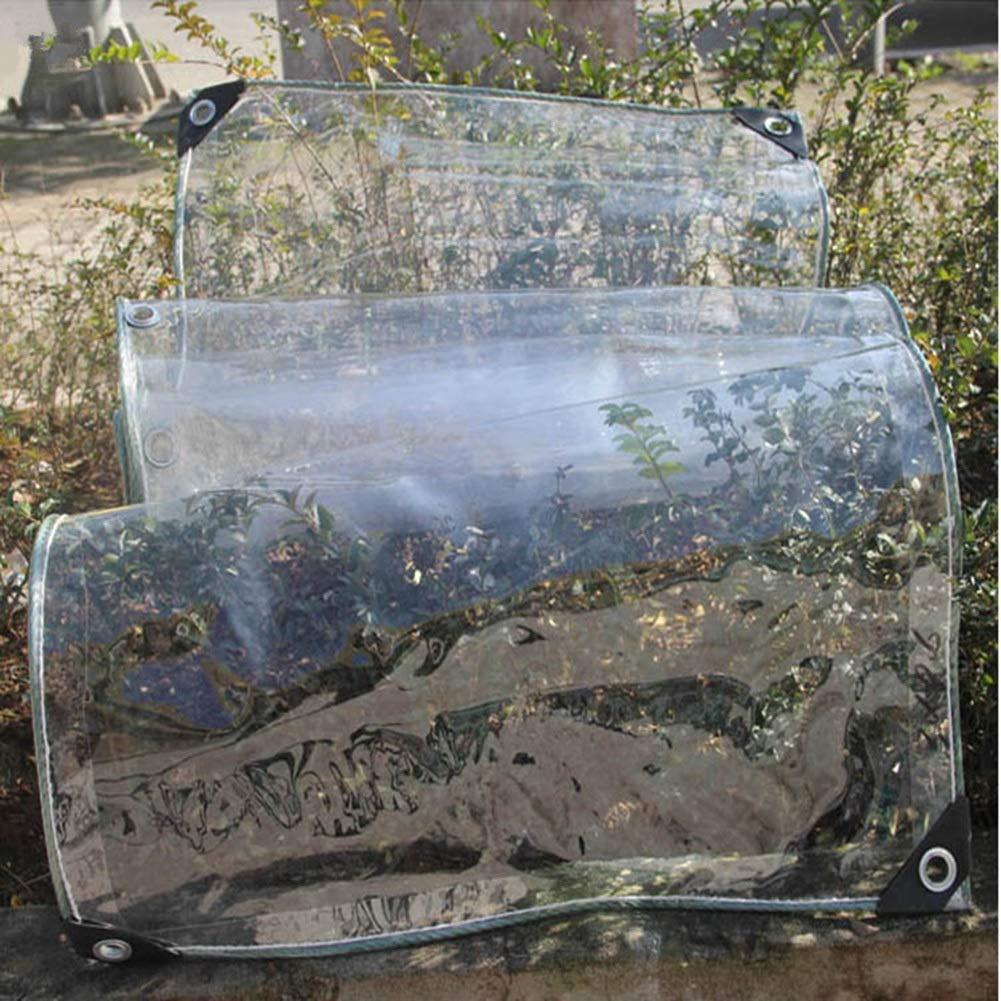 2×4m  Yunyisujiao épaissir la bÂche Transparente de Toile cirée de Camion extérieur de Tente imperméable Claire de bÂche pour des succulentes Windows, 500g   m² (Couleur   1.8×3M)