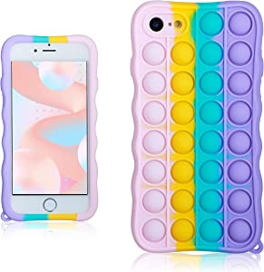 oqpa for iPhone 6 Plus/6S Plus Case Cartoon Funny Cute Fun Silicone Design Cover for Girls Kids Boys Teen,Fashion Cases Fidget Aesthetic Precise Color Bubble(for iPhone 6 Plus/6S Plus 5.5