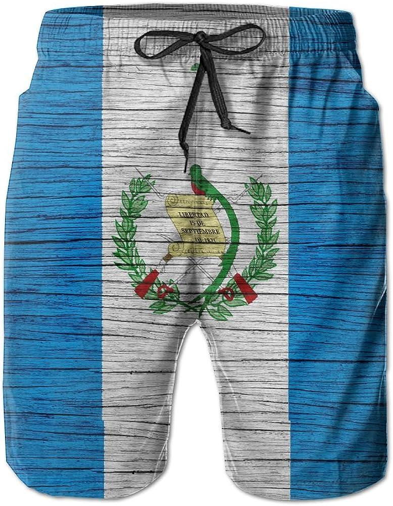 HFSST Guatemala Wooden Texture Guatemalan Flag Men Kid Male Summer Swimming Pockets Trunks Beachwear Asual Shorts Pants Mesh