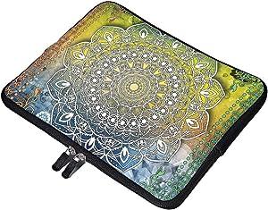 "Mystic Asian Mandala Zen Boho Neoprene 15 Inch Laptop Sleeve Case Protective Computer Cover Carrying Bag for 15"" MacBook Pro Notebook"
