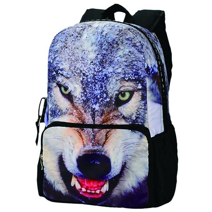 Mochila escolar, cremallera, muchos bolsillos, diseño de animal BBP109 17inch: Amazon.es: Equipaje
