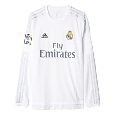 Amazon.com : adidas Men's Soccer Real Madrid Home Jersey Long Sleeve :  Clothing