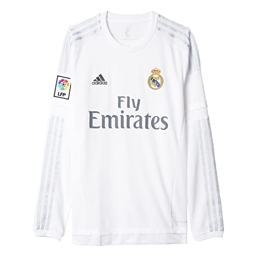 1d9b3f958 Amazon.com   adidas Men s Soccer Real Madrid Home Jersey Long Sleeve    Clothing