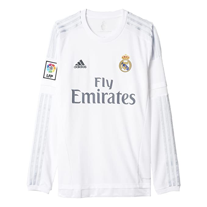 low priced b94cd 81858 adidas Men's Soccer Real Madrid Home Jersey Long Sleeve