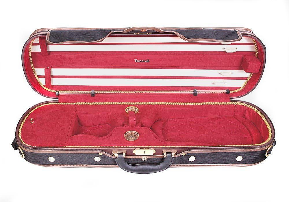 Estuche para violín madera Tonareli 4/4 DELUXE VNDLUX1001 ROJO - VENDEDOR AUTORIZADO: Amazon.es: Instrumentos musicales