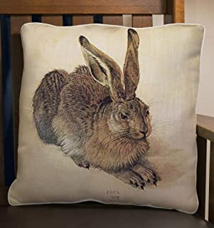 product image for Fiddler's Elbow Dürer Rabbit Pillow | Accent Decor Throw Pillow | 100% Made in The U.S.A | Great Gift for Bunny Lovers