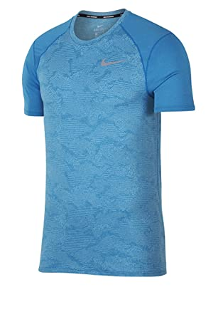 321e7d2d Nike Mens Dri-Fit Breathe Miler Running Shirt Blue at Amazon Men's ...