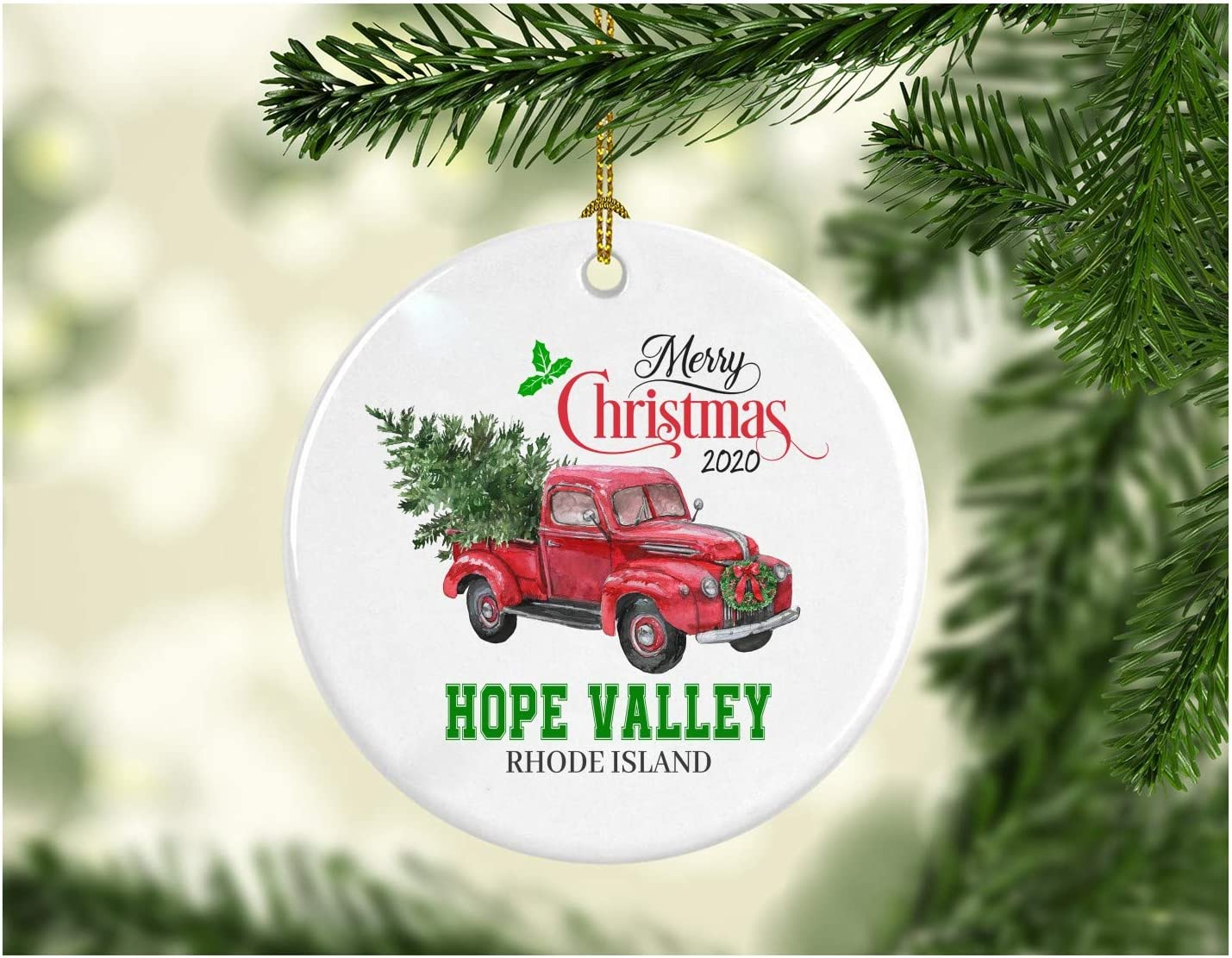 Will We Have A White Christmas In 2020 Rhode Island Amazon.com: Christmas Decoration Tree Merry Christmas Ornament