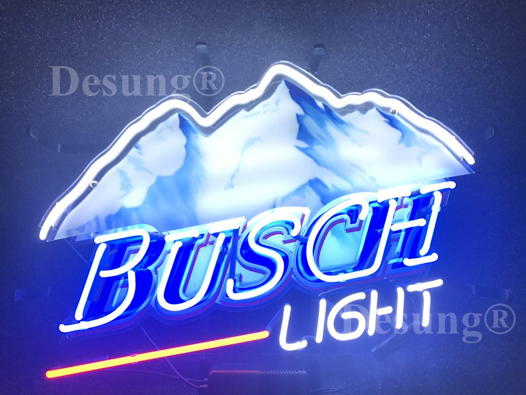 24''x20'' New Busch Light Neon Sign with HD Vivid Printing Technology Custom Handmade Real Glass Neon Light NT06