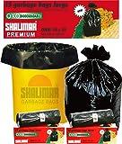 Shalimar Premium OXO - Biodegradable Garbage Bags (Large) Size 60 cm x 81 cm (15 Bags) (Black Colour)