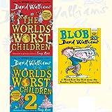 David Walliams World's Worst Children Collection 3 Books Set With Gift Journal (Blob [Paperback], The World's Worst Children, The World's Worst Children 2)