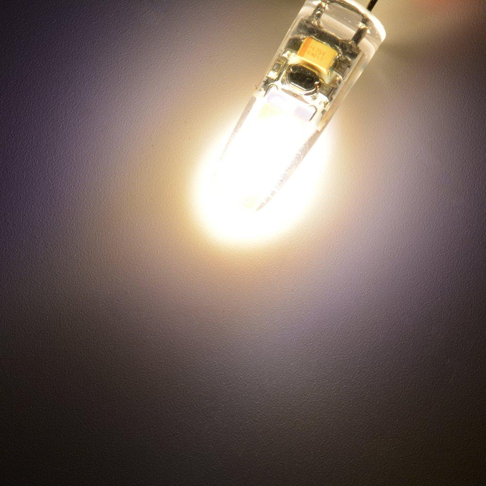 Sunix® Bombillas LED COB G4 de 3W, Equivalente a Bombillas Halógenas de 25W, 200lm, Regulables, Blanco Cálido, 3000K, Ángulo del haz de luz de 360°, ...