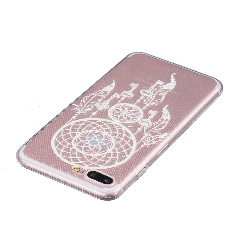 iPhone 7 Plus Funda ,ETSUE TPU Gel Suave Funda Caso para iPhone 7 Plus,Slim transparentee Anti-cero Funda de El Tel/éfono m/óvil Cobertura de Tel/éfono M/óvil para iPhone 7 Plus,Alto grado de Claro Funda Con Manera Moda de El Patr/&
