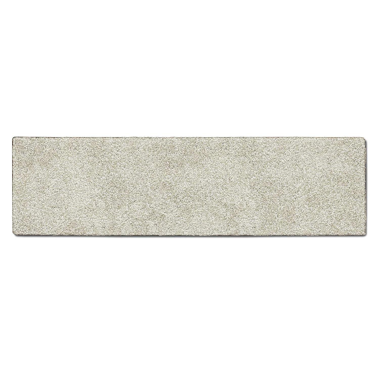 Casa pura Teppich Läufer Uni Creme   Qualitätsprodukt aus Deutschland   Gut Siegel   Kombinierbar mit Stufenmatten   19 Breiten und 18 Längen (80 x 300cm)