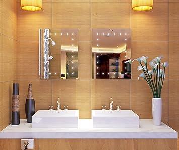 Schindora LED Bathroom Mirror Wall Hanging Battery Powered