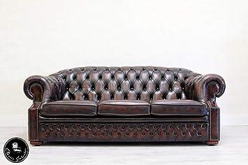 Classic Interior Chesterfield Sofa Leder Antik Vintage Couch ...