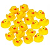 Westeng Bathtime Water Toys Cute Mini Squeaky Yellow Rubber Bath Ducks