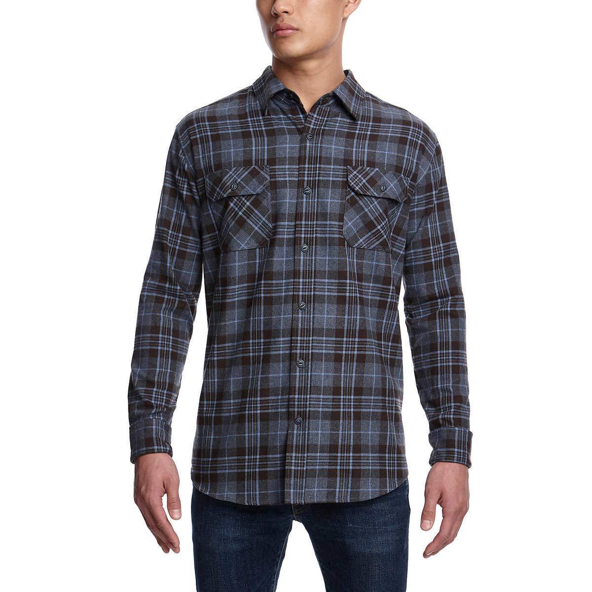 Weatherproof Vintage Men/'s Flannel Button Down Shirt
