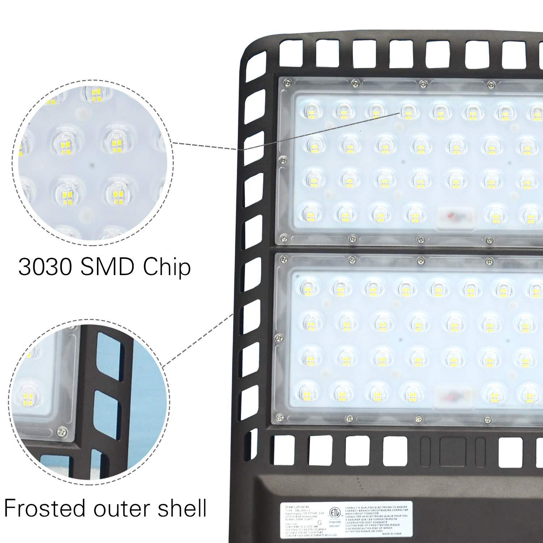 Arm Mount 300W 300W LED Parking Lot Light,with Dusk-to-Dawn Photocell,Waterproof LED Street Light,36000 Lumens,100-277V LED Shoebox Area Light,1000W Metal Halide Equivalent