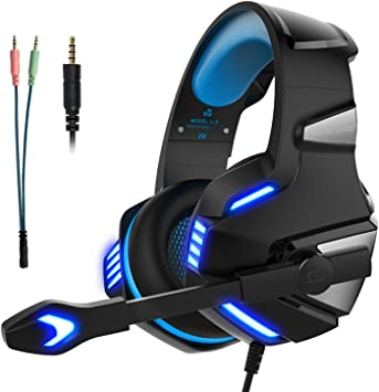 Cascos Gaming Auriculares Gaming Gamer para PS4 PC Xbox One con ...