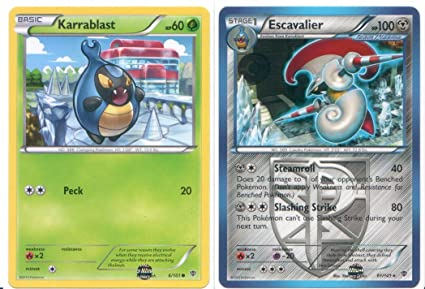 Amazon.com: Escavalier y Karrablast – raro Pokemon Card ...
