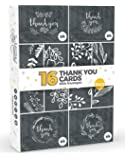 16 x Black CHALKBOARD Thank You Cards by Joy MastersTM Vol.3