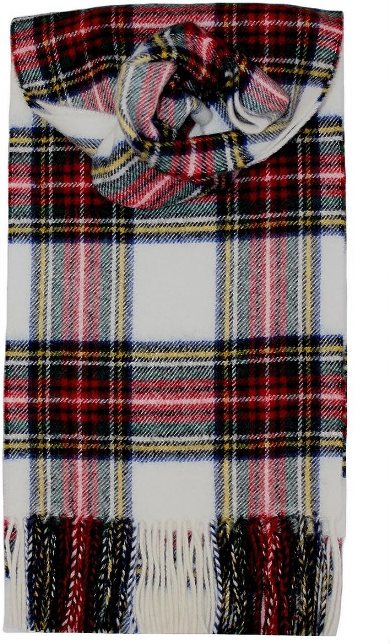 Scottish Lochcarron Wool Tartan Scarf Royal Stewart
