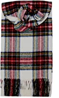 100% Lambswool Stewart Tartan Clan Scarf with Gift Wrap - Made in Scotland by Lochcarron