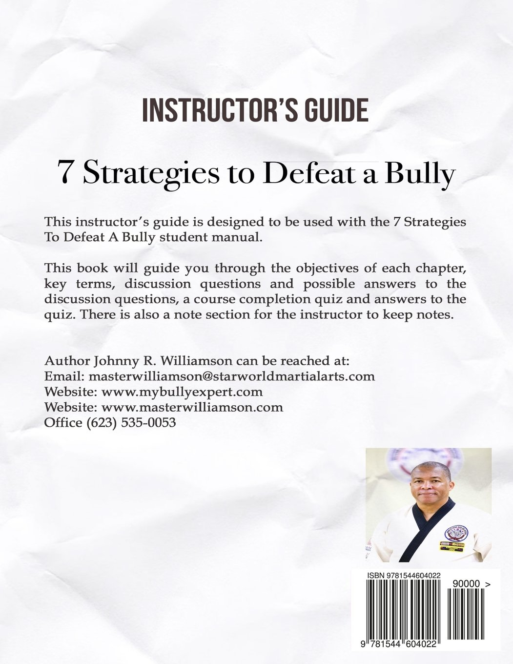 Instructor Guide 7 Strategies to Defeat a Bully: Johnny R