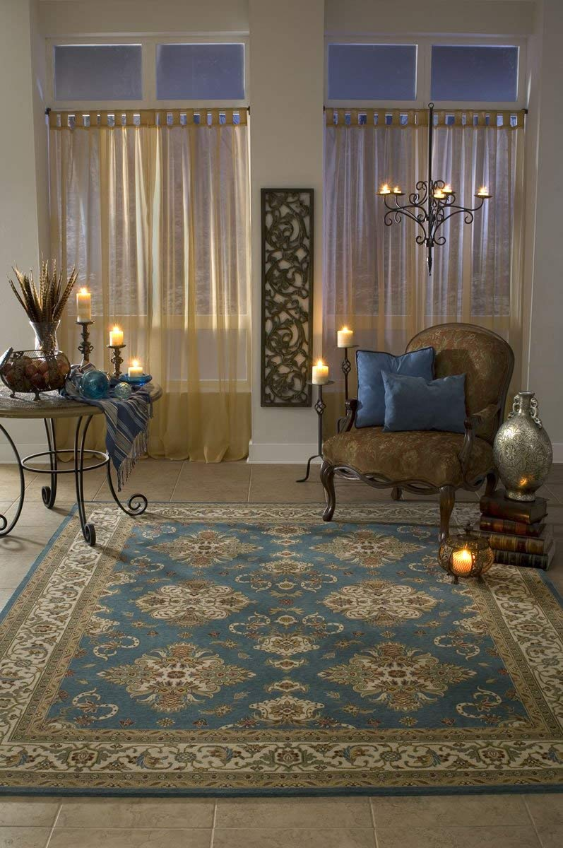 100/% New Zealand Wool Traditional Area Rug Momeni Rugs PERGAPG-01IVY3050 Persian Garden Collection 3 x 5 Ivory 3/' x 5/' Inc DROPSHIP