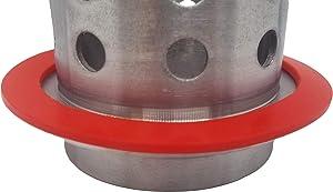 "Premium Silicon Gasket Seal Vacuum for Vacuum Sealing Perforated Flasks (3.5"" Diameter)"