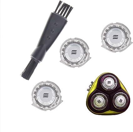 3 piezas HQ8 cabezal de repuesto para afeitadora Philips con cepillos: Amazon.es: Bricolaje y herramientas