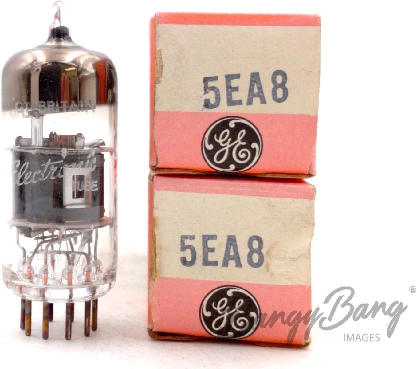 2 Vintage General Electric 5EA8 Triode Pentode Oscillator Mixer TV Valve- BangyBang Tubes