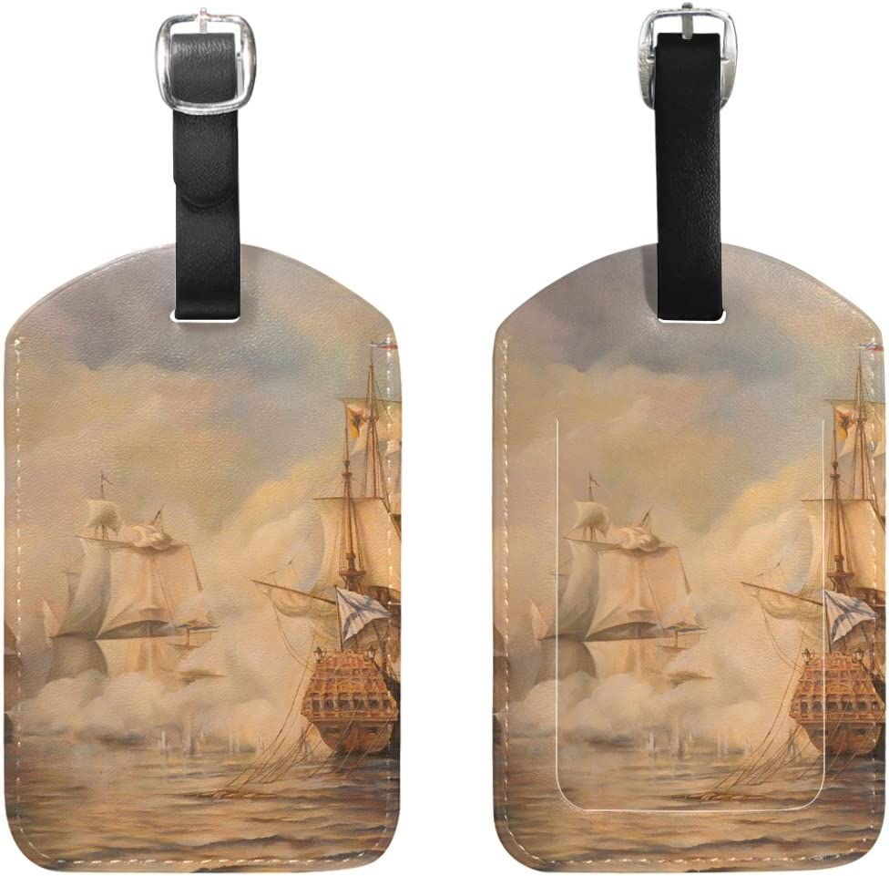 2 Pack Luggage Tags Sailboats Cruise Luggage Tag For Travel Tags Accessories