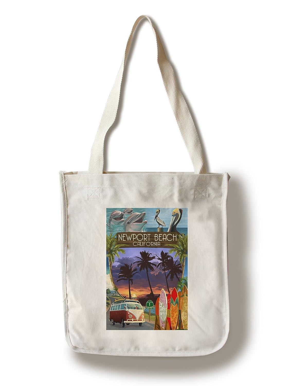 ニューポートビーチ、カリフォルニア - モンタージュ Canvas Tote Bag LANT-83737-TT B078RJ4WX2  Canvas Tote Bag