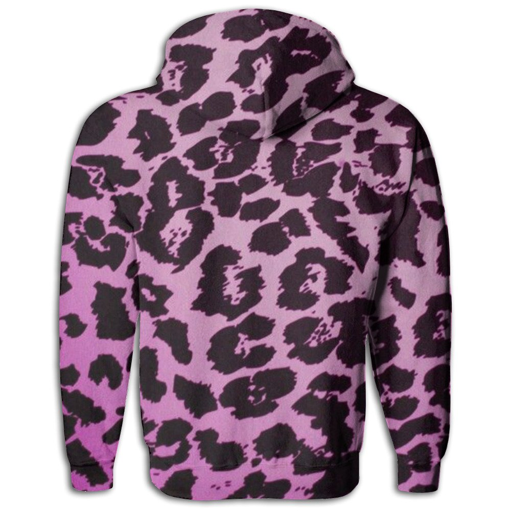 06792c140200 Amazon.com: QWXSDV Leopard Purple Unisex Pullover Hooded Sweatshirt Cap  Pocket Printed Long Sleeve Tops Coats: Clothing
