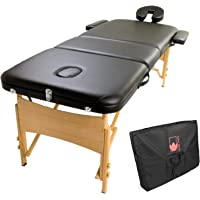 Forever Beauty Wooden Portable Massage Table 70cm - Black