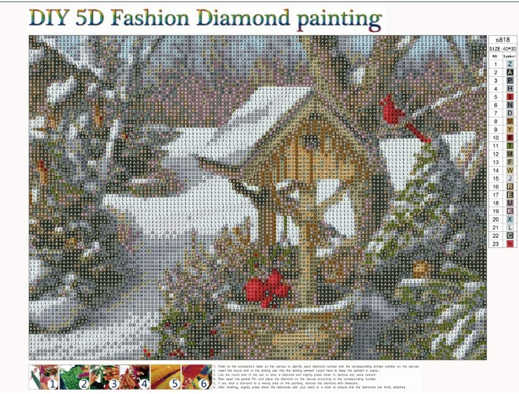 DIY Crystal Rhinestone Cross Stitch Embroidery Arts Craft Picture Supplies for Home Wall Decor Christmas Best Gift!! 15.74 /× 11.81 Pollyhb 5D Diamond Painting Full Drill