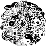 Graffiti Stickers for Car, Laptop, Skateboard, Luggage, Waterproof Vinyl Decals for Motorcycle,Bicycle,Bumper (100Pcs/Pack Black and White Stlye)