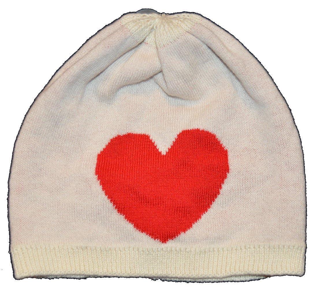 BabyGap Girls White Red Heart Beanie Hat 3-6 Months