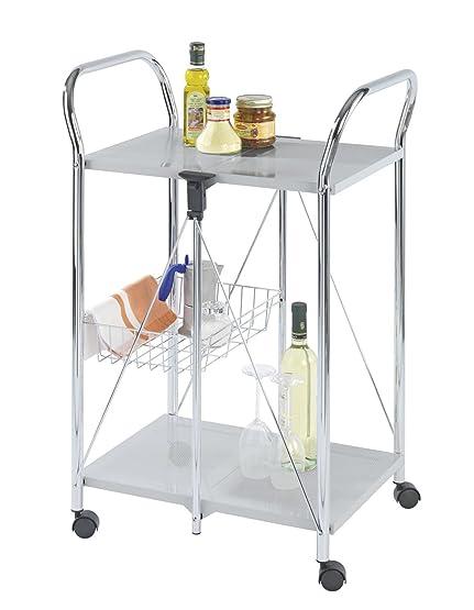 WENKO 900060100 Carrello cucina e portavivande Sunny argento ...
