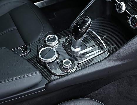 Consolle Centrale Auto.Cornice In Fibra Di Carbonio Abs Cromata Console Centrale