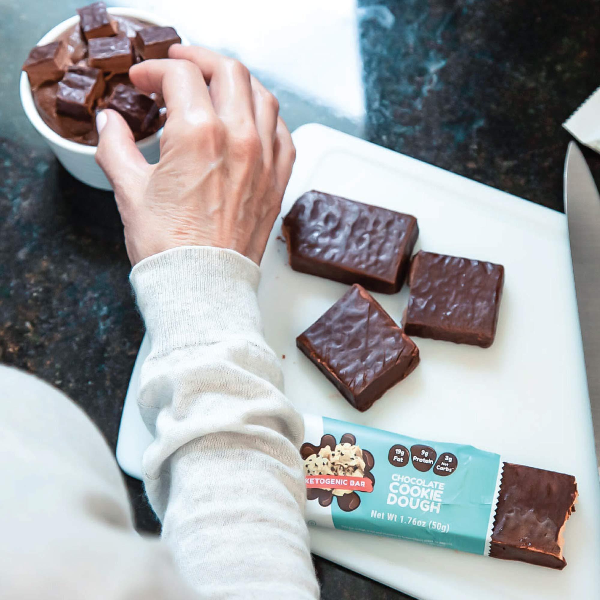 Kiss My Keto Snacks Keto Bars - Keto Chocolate Cookie Dough (3 Pack, 36 Bars), Nutritional Keto Food Bars, Paleo, Low Carb/Glycemic Keto Friendly Foods, All Natural On-The-Go Snacks, 3g Net Carbs by Kiss My Keto (Image #6)