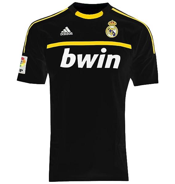 Adidas REAL A GK JSY Camiseta Negro Amarillo Real Madrid Portero para Hombre: Amazon.es: Zapatos y complementos