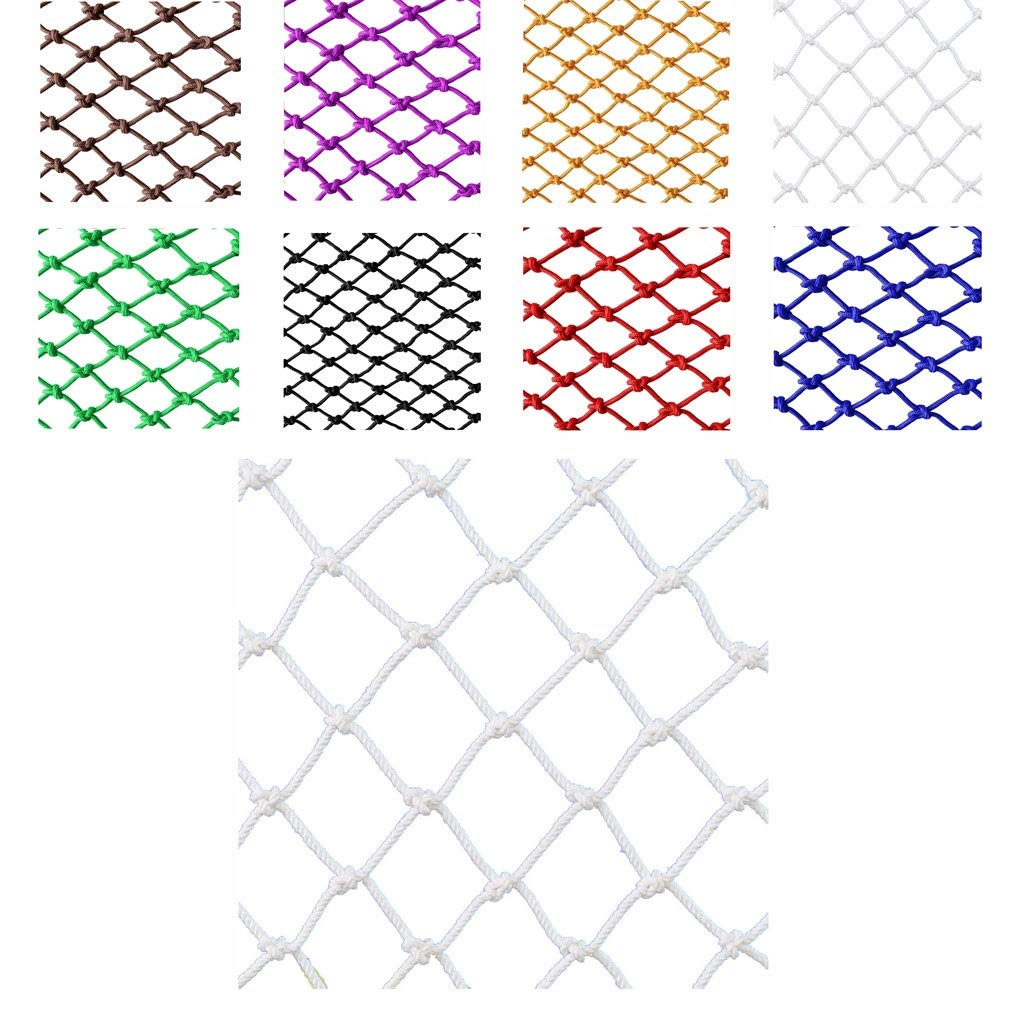 Protective Net Cargo Net, White Nylon Decorative Net Protective Net Children Cat and Dog Pet Balcony Stairs (Size: 10mm Rope, 8cm Hole) (Size : 15m) by Wlh