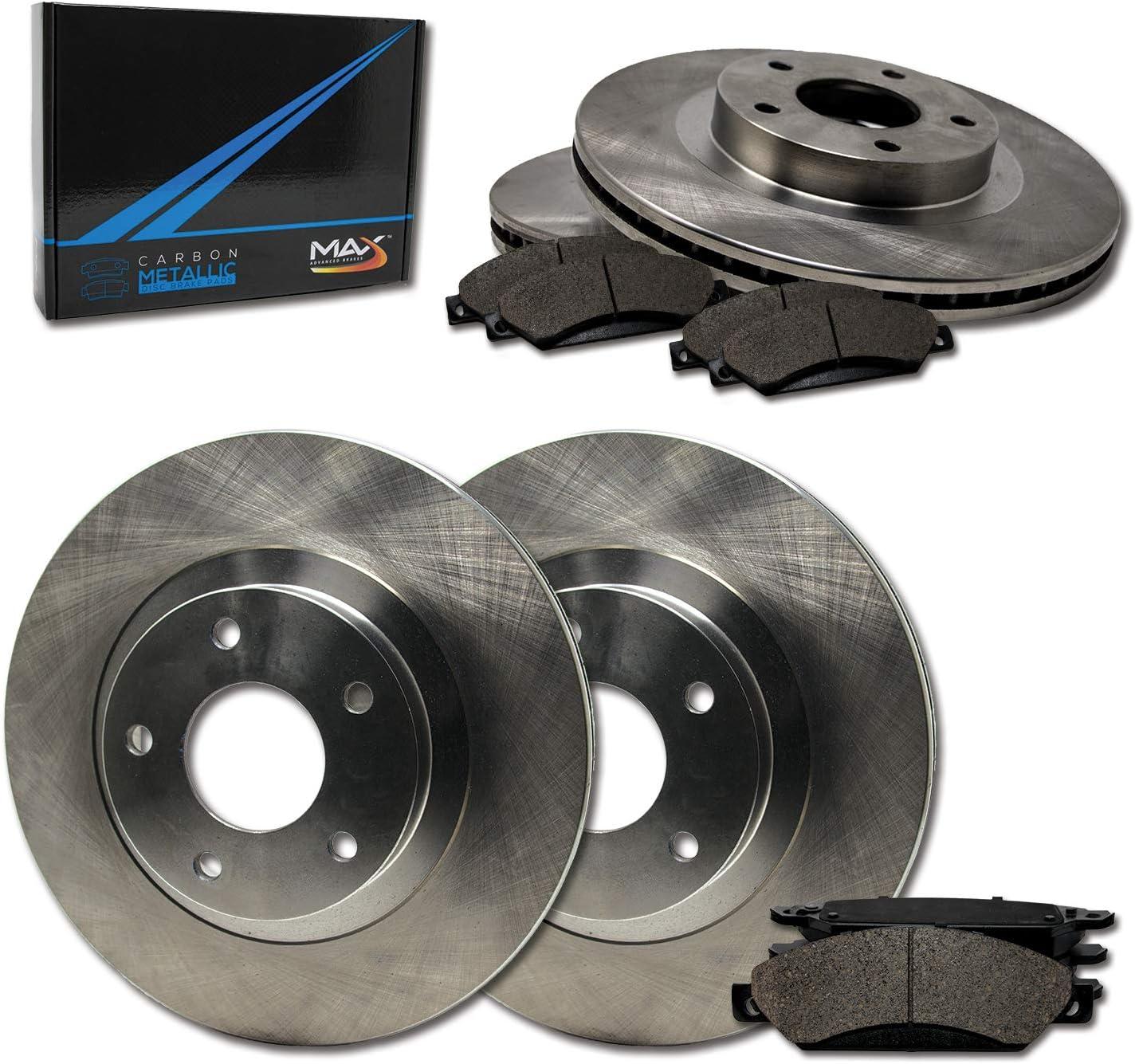 Max Brakes Front /& Rear Premium OE Rotors and Metallic Pads Brake Kit TA062343-5