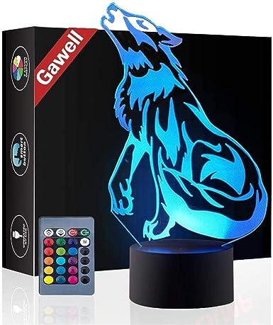 3D Wolf Lamp
